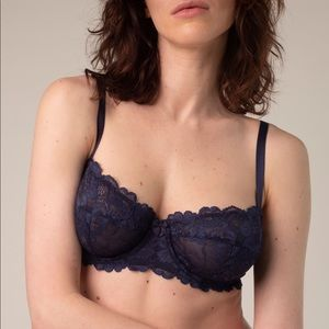 Blush 32D nightfall blue underwire bra
